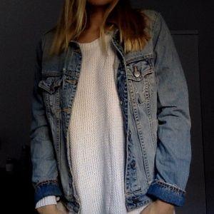 J  Crew blue jean jacket size M